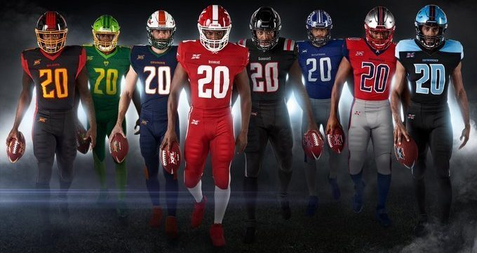 XFL Releases Uniforms For All Eight Teams